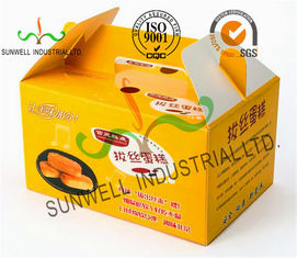 Cina Custom Printed Foldable Cardboard Food Packaging Boxes For Cup Cake / Dessert Packing pemasok