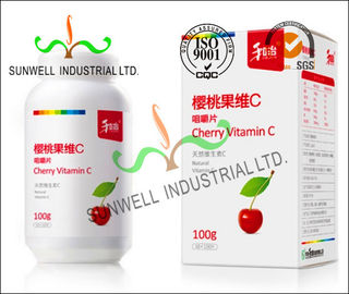 Cina Fruit Vitamin Bottle Medicine Packaging Box CMYK Color Printing Cardboard pabrik